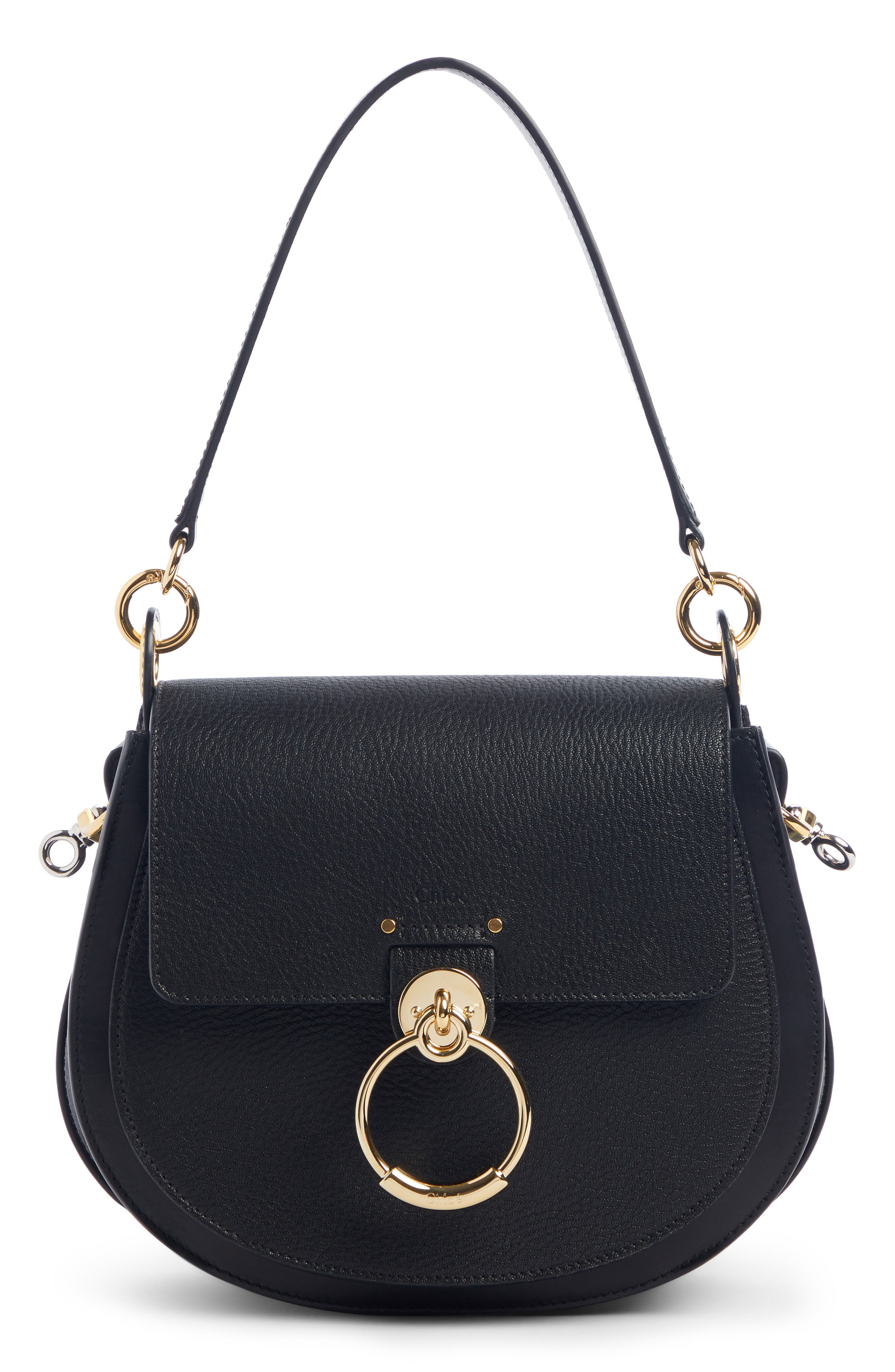 Chloé Large Tess Grained Lambskin Leather Shoulder Bag   Nordstrom