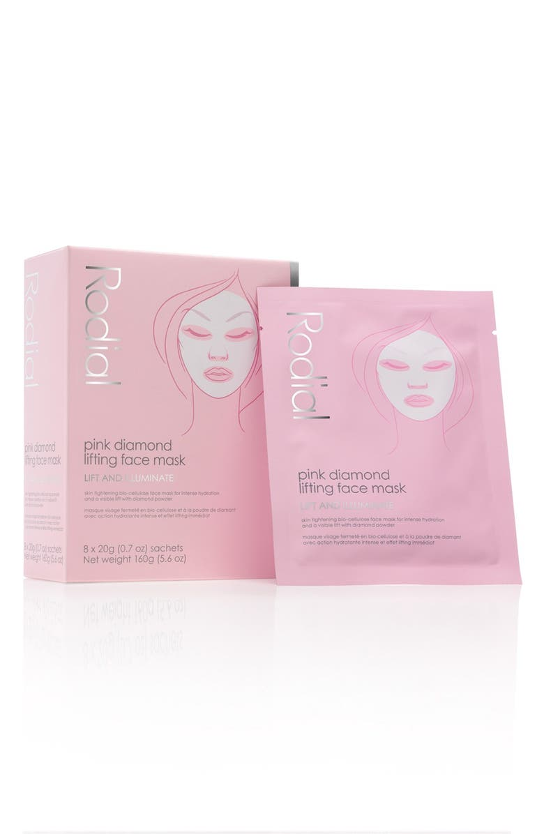 RODIAL Pink Diamond Instant Lifting Face Mask, Main, color, NO COLOR