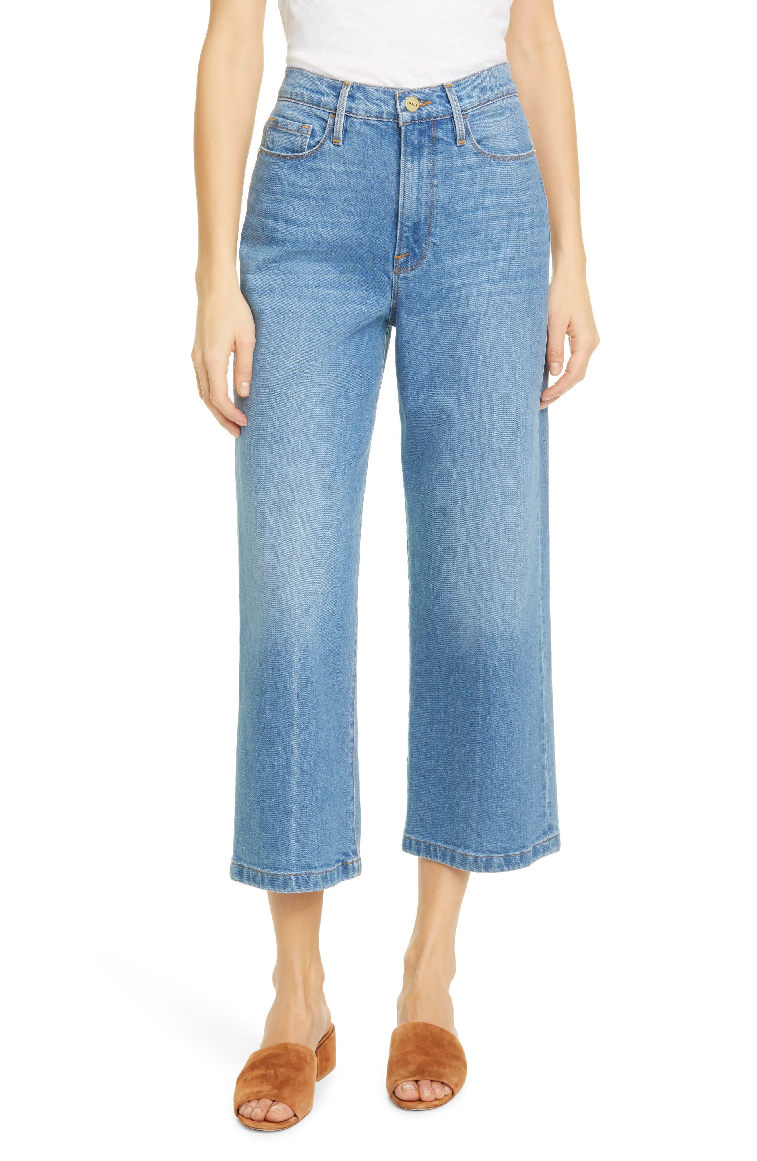 Image of FRAME Ali Wide Crop Jeans