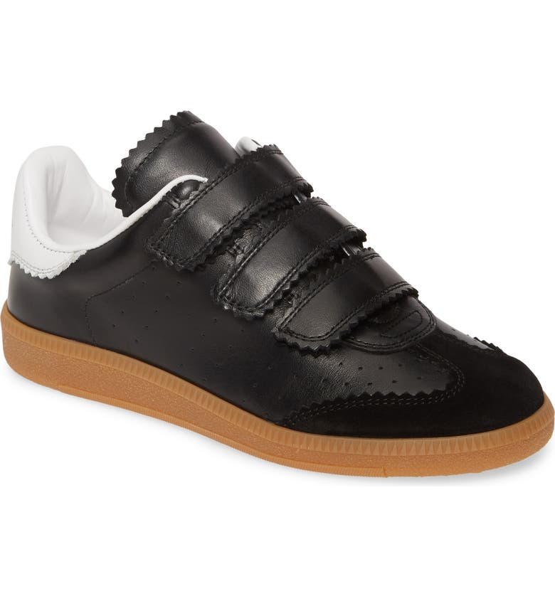 ISABEL MARANT Beth Low Top Sneaker, Main, color, BLACK