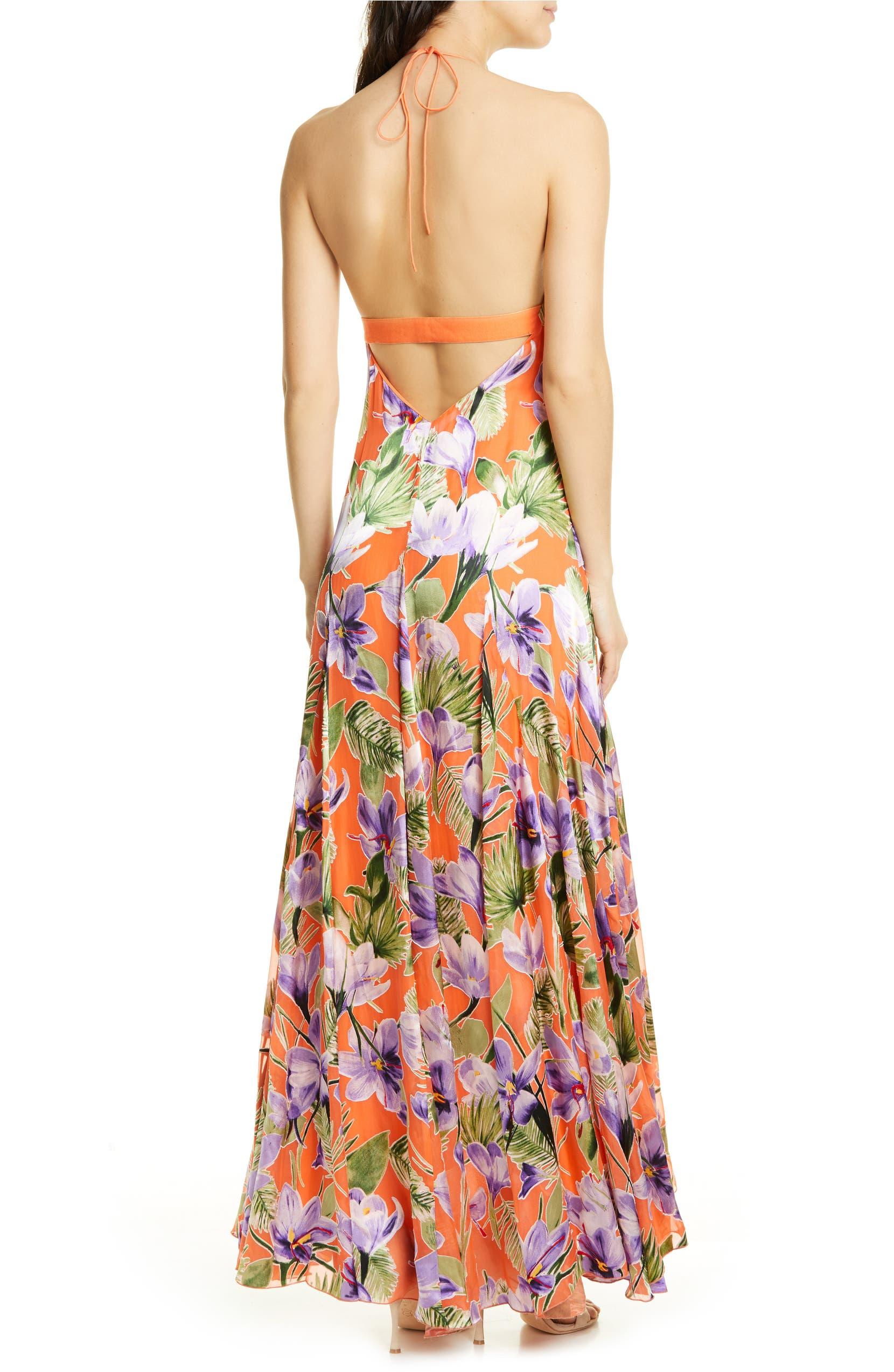0a083f754326 Alice + Olivia Hetty Halter Neck Maxi Dress | Nordstrom