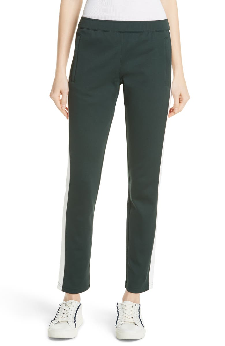 TORY SPORT Colorblock Track Pants, Main, color, CONIFER