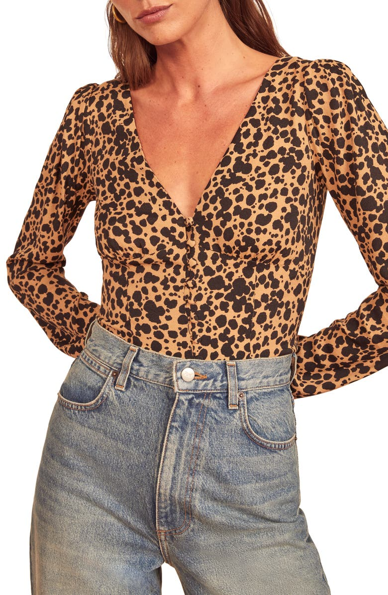 REFORMATION Nell Long Sleeve Top, Main, color, BLITZ