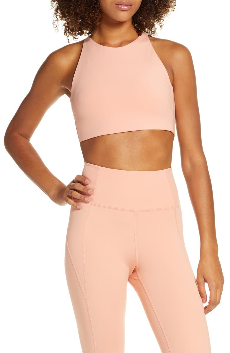 GIRLFRIEND COLLECTIVE Topanga Sports Bra, Main, color, SHERBERT