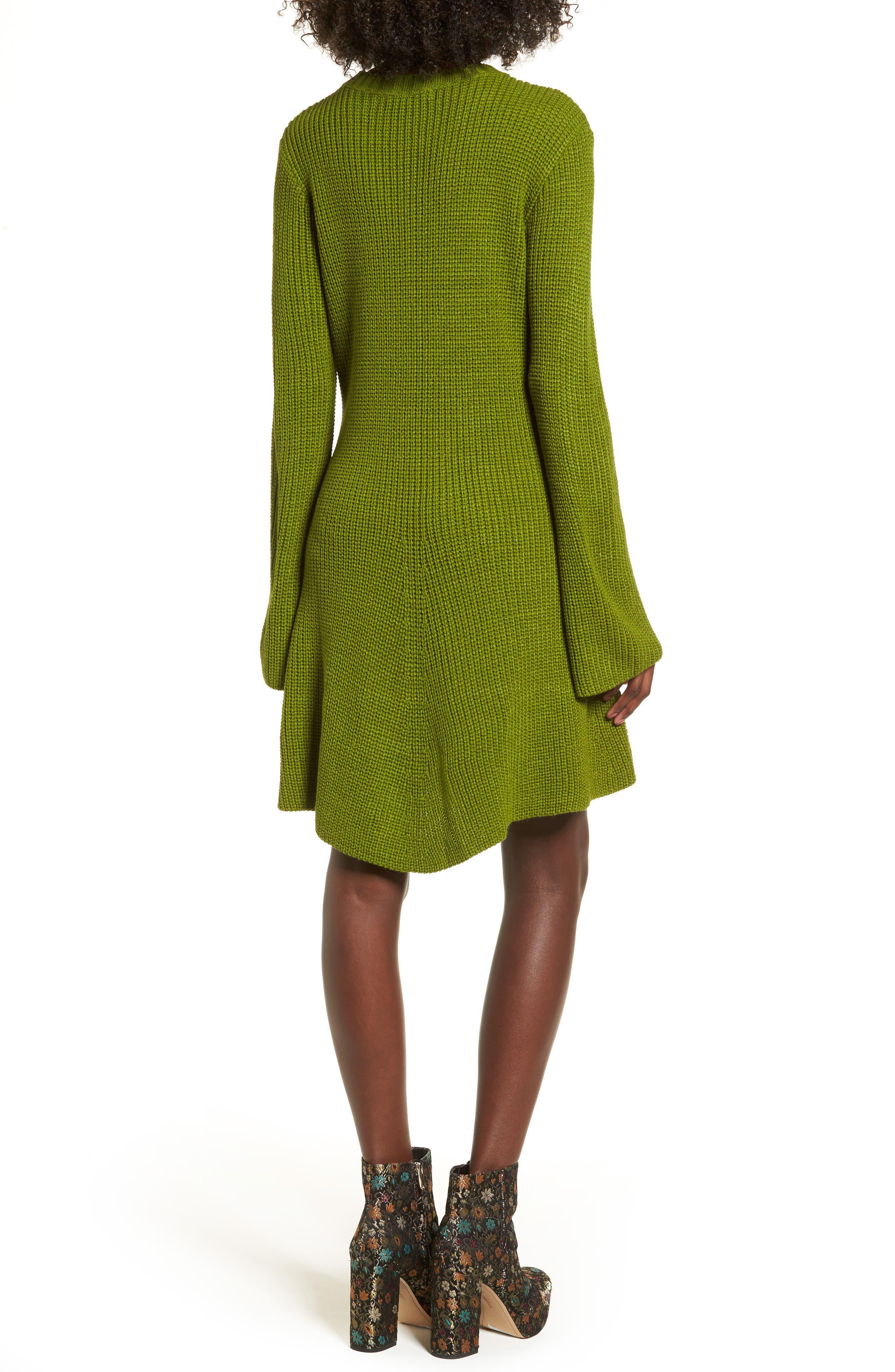 ,                             Flared Sleeve Sweater Dress,                             Alternate thumbnail 8, color,                             300