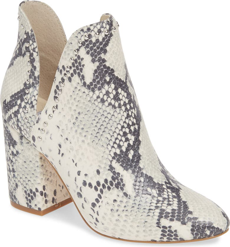 Rockstar Bootie, Main, color, NATURAL SNAKE PRINT LEATHER