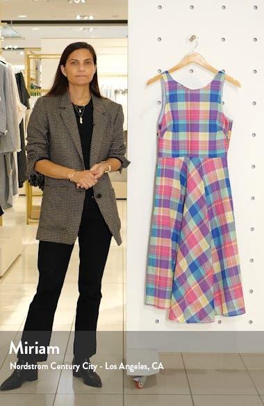 Madras Plaid Fit & Flare Dress, sales video thumbnail