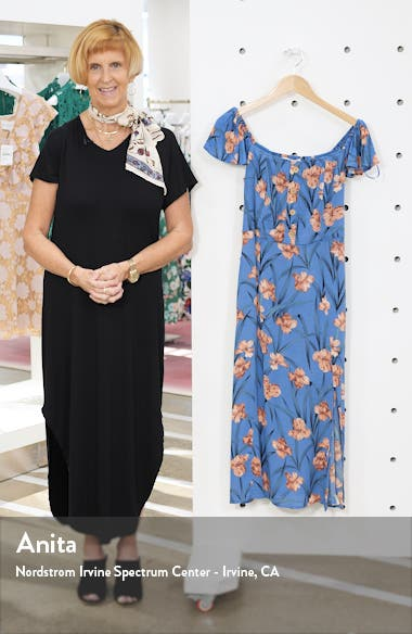 Floral Off the Shoulder Midi Dress, sales video thumbnail