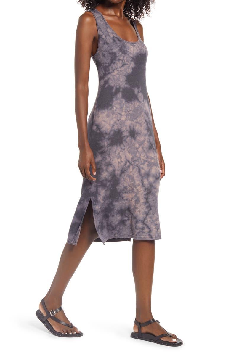 TREASURE & BOND Sleeveless Dip Dye Tank Dress, Main, color, 001