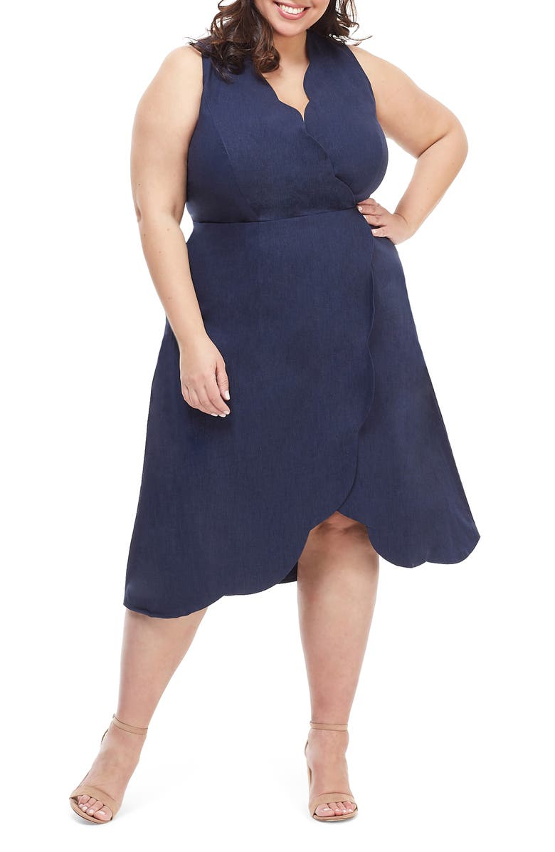 MAGGY LONDON Rochelle Linen Blend Midi Dress, Main, color, 462