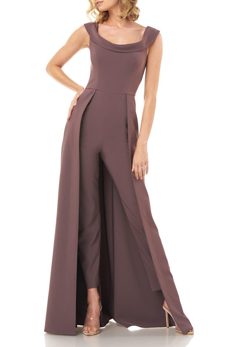 KAY UNGER Jumpsuit Gown, Main, color, MINK