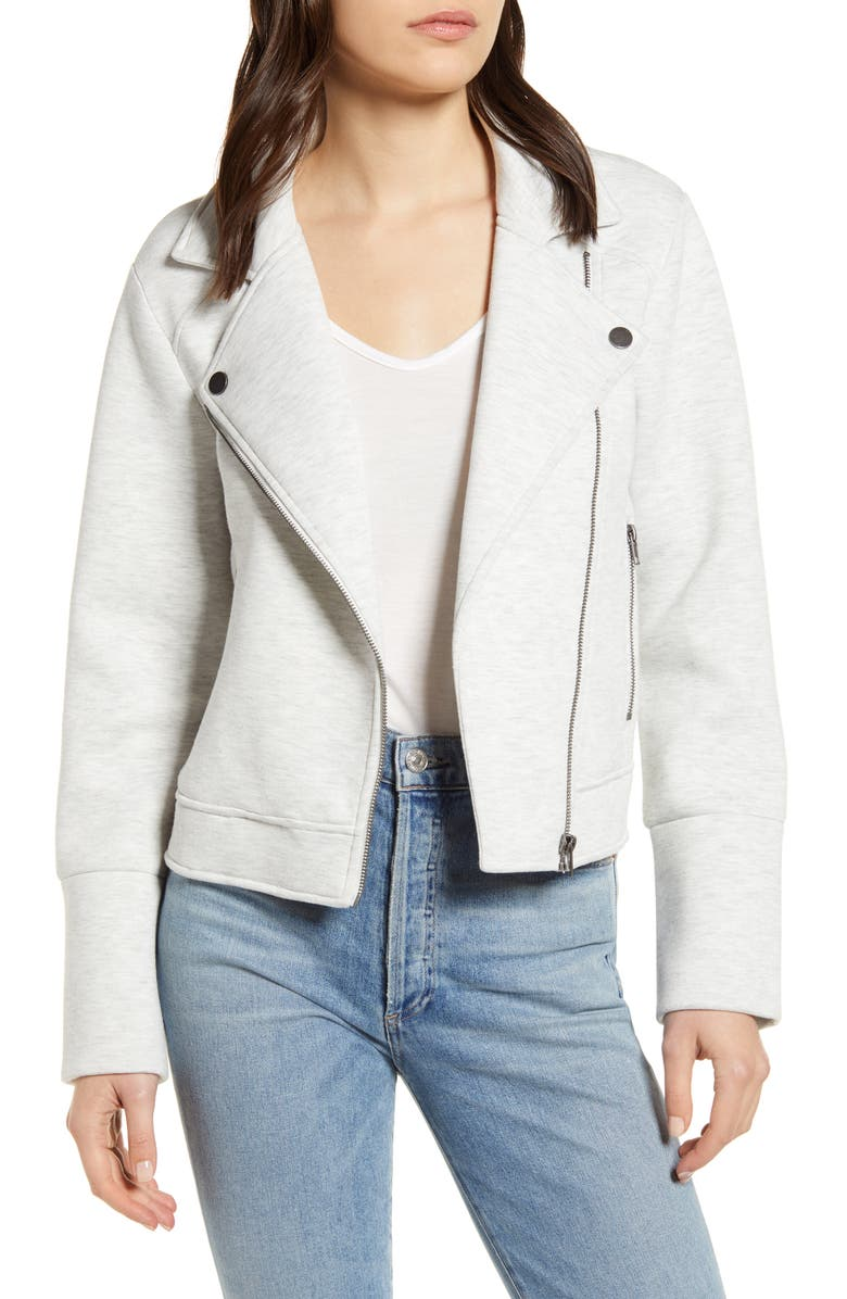 CUPCAKES AND CASHMERE Annabelle Knit Moto Jacket, Main, color, 050