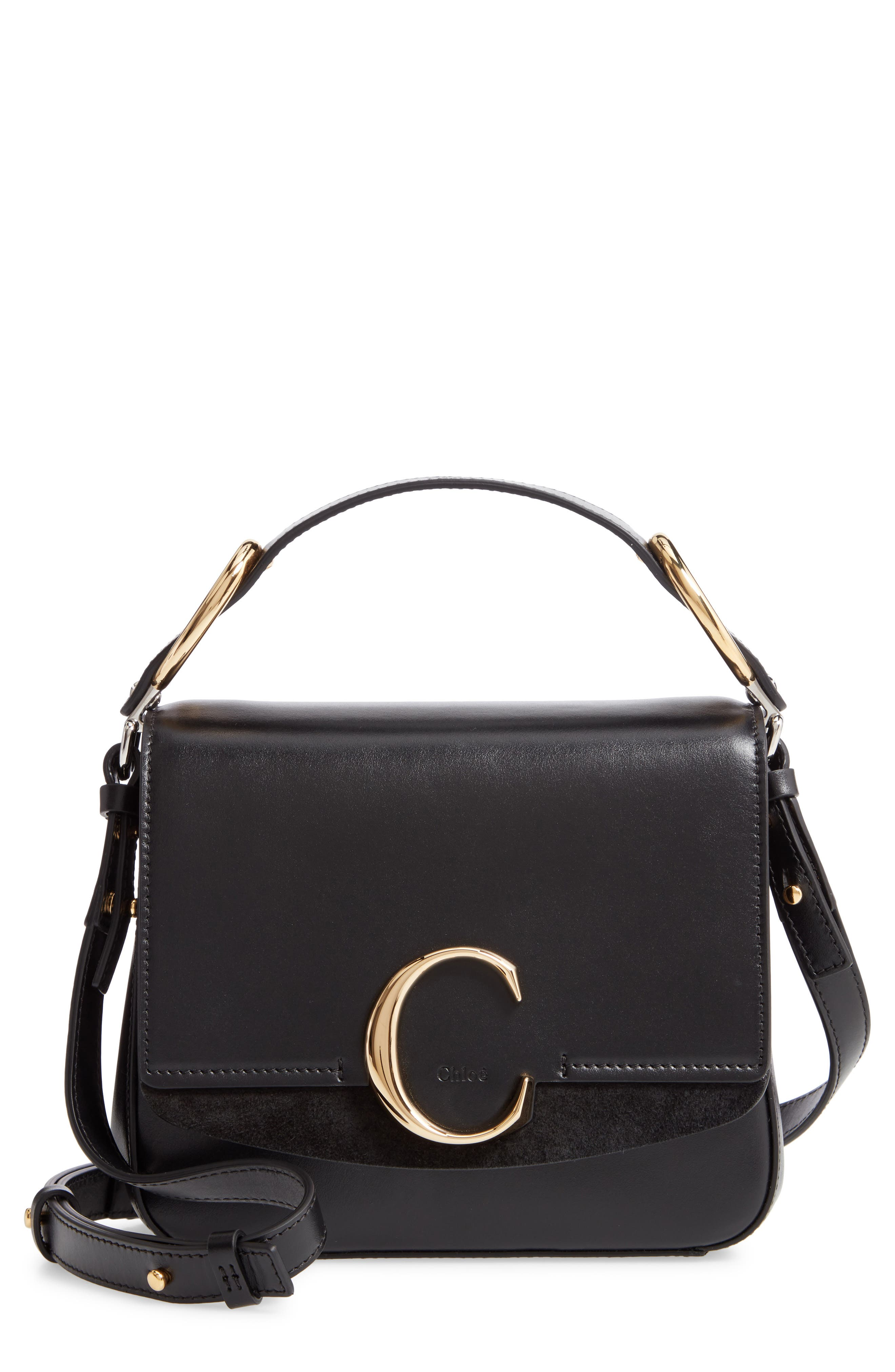 Chloé Small C Convertible Leather Bag   Nordstrom