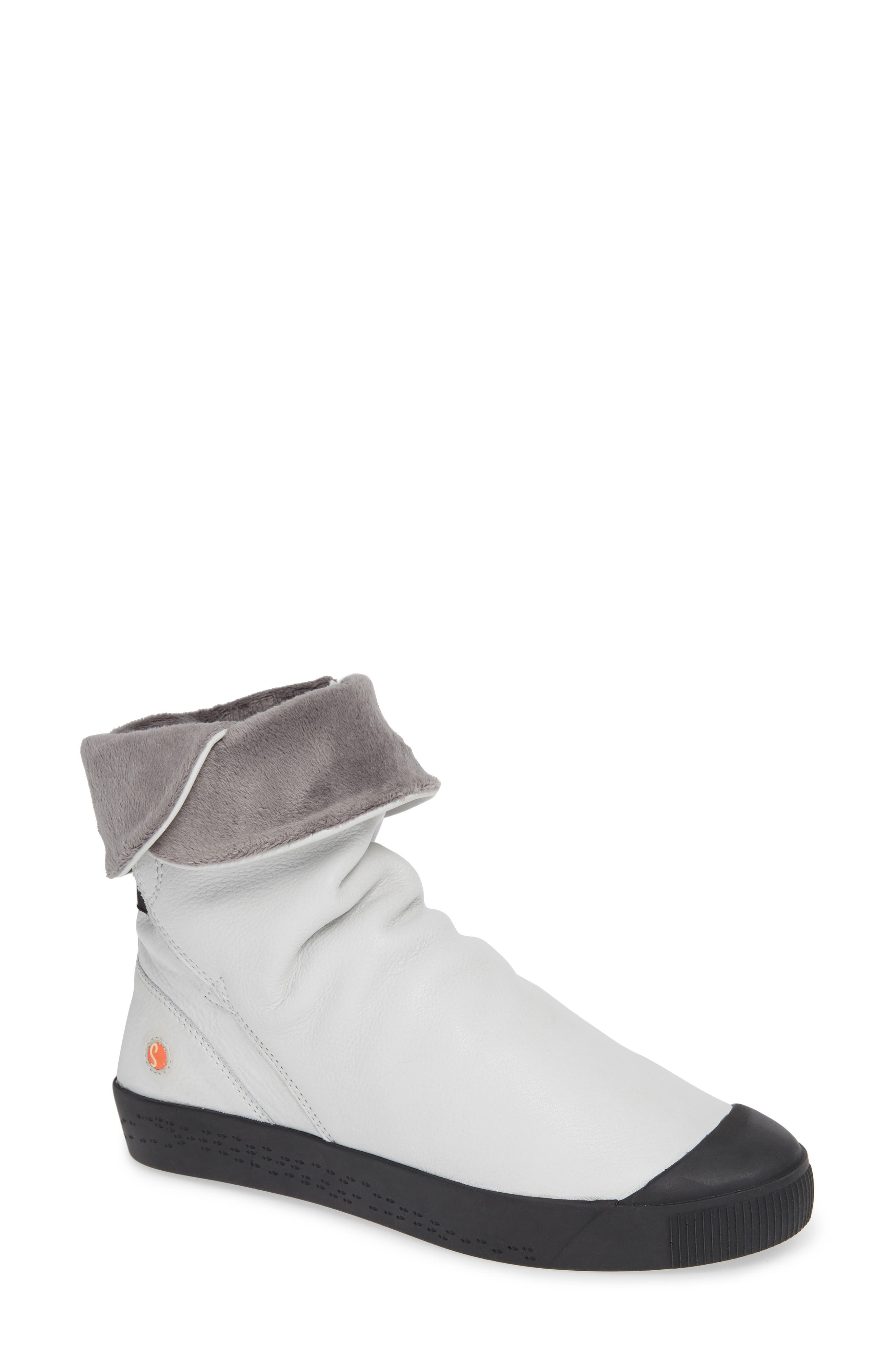Softinos By Fly London Kaz Slouchy Sneaker Boot - White