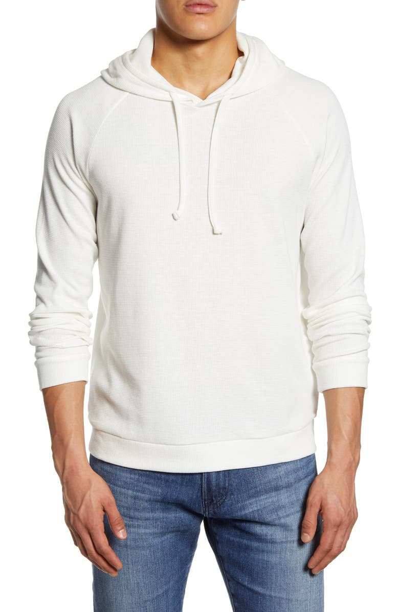 ONIA Aaron Thermal Pullover Hoodie, Main, color, OFF-WHITE