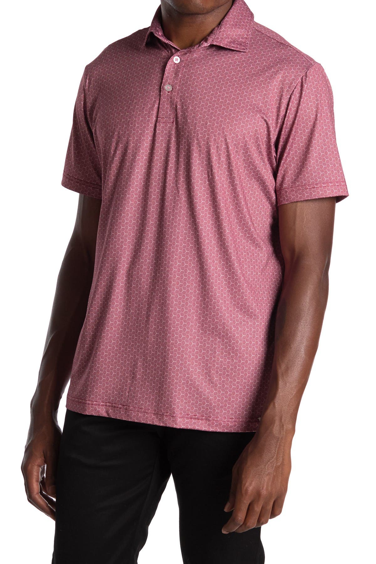 Image of TailorByrd Printed Golf Polo
