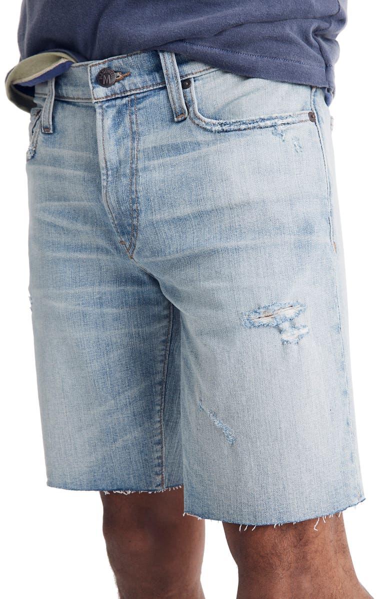 MADEWELL Cutoff Denim Shorts, Main, color, HAMLYN