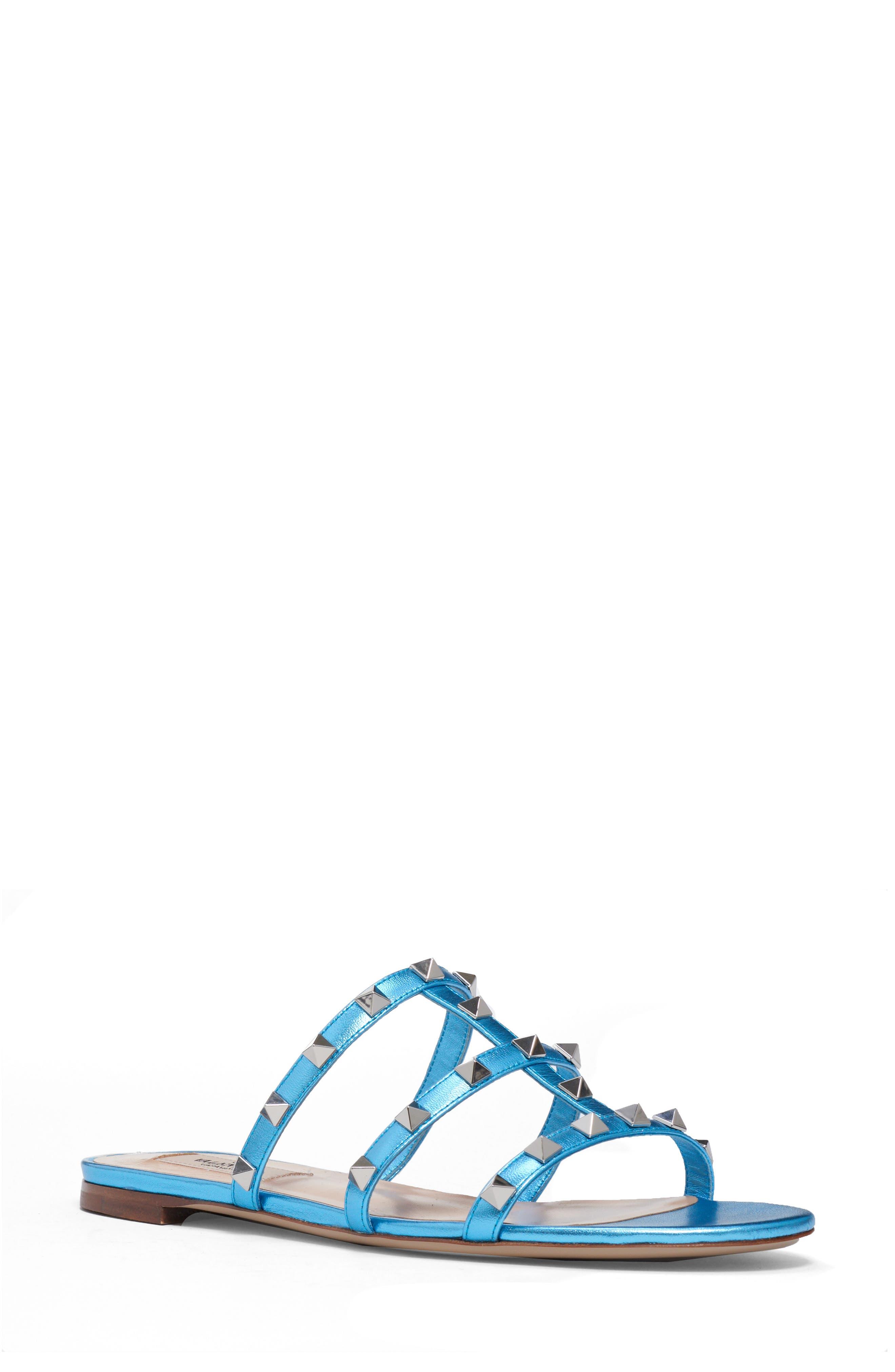 Image of VALENTINO GARAVANI Rockstud Slide Sandal