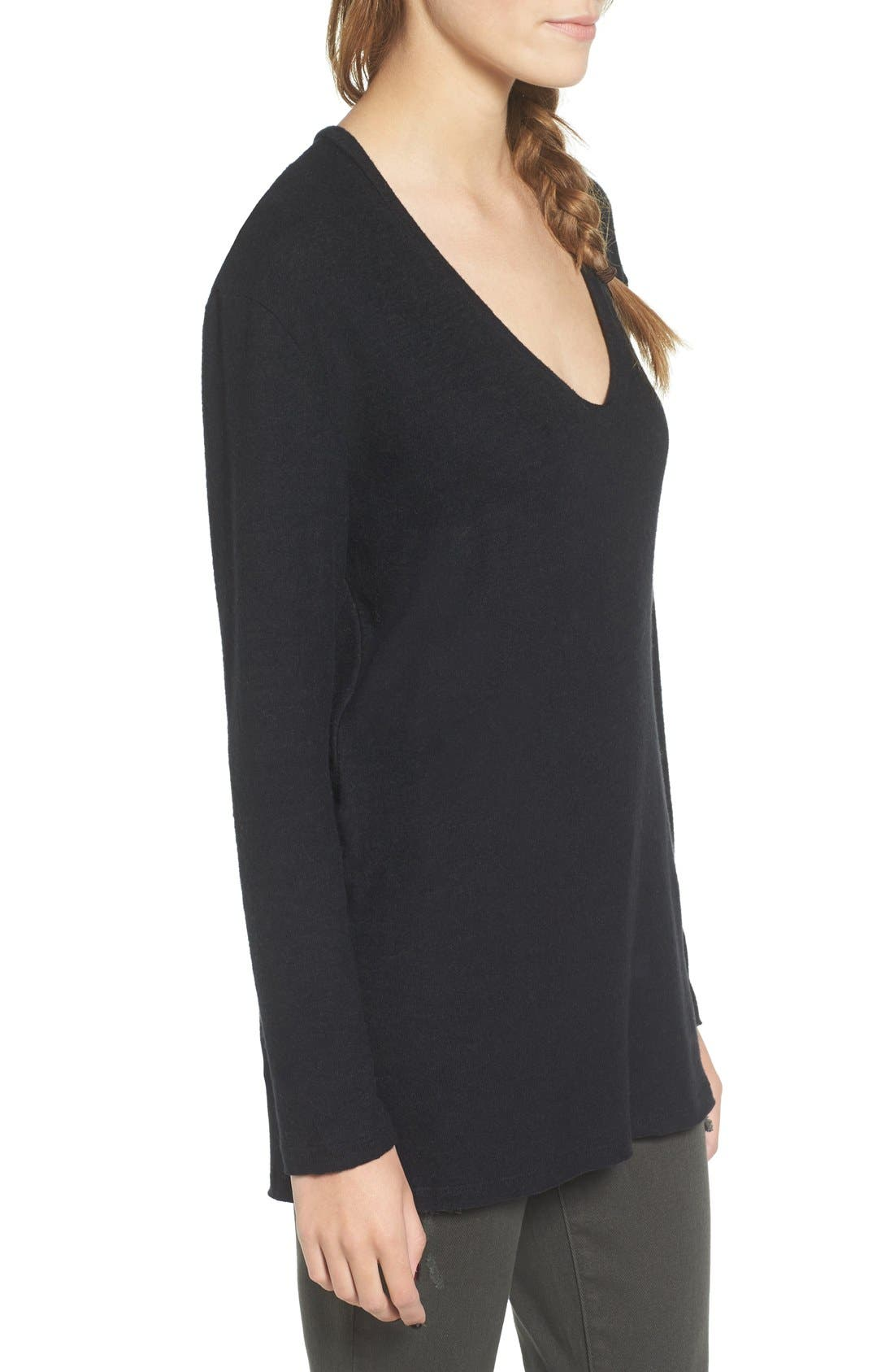 ,                             Cozy V-Neck Sweater,                             Alternate thumbnail 39, color,                             001