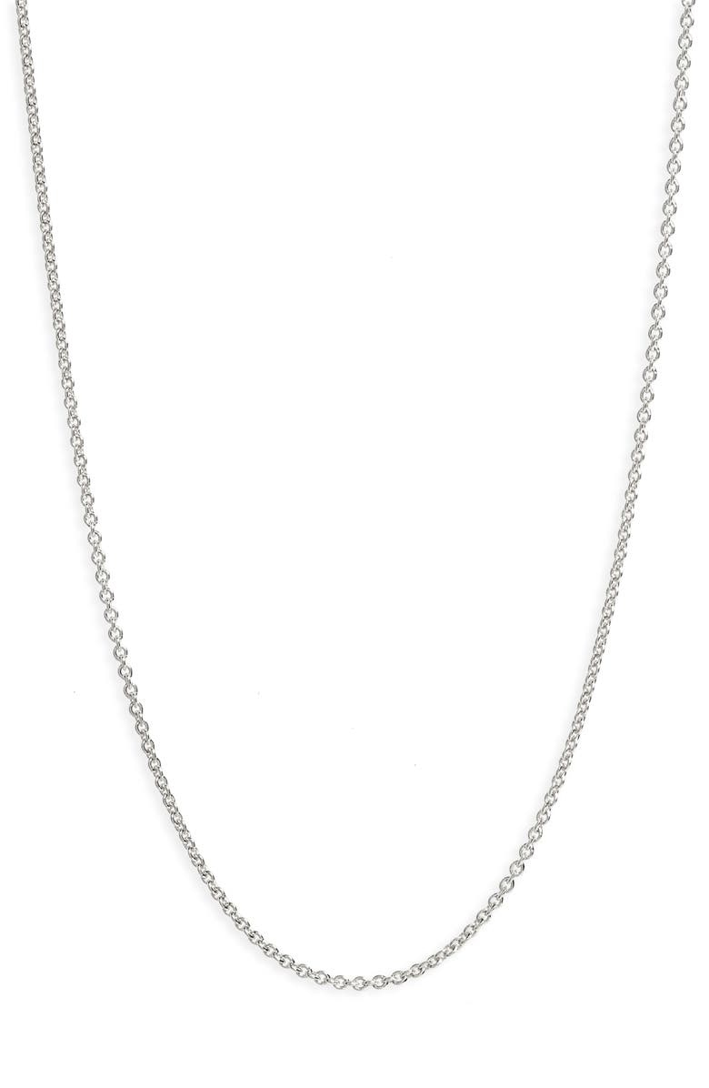 MONICA VINADER 16-Inch Chain, Main, color, SILVER