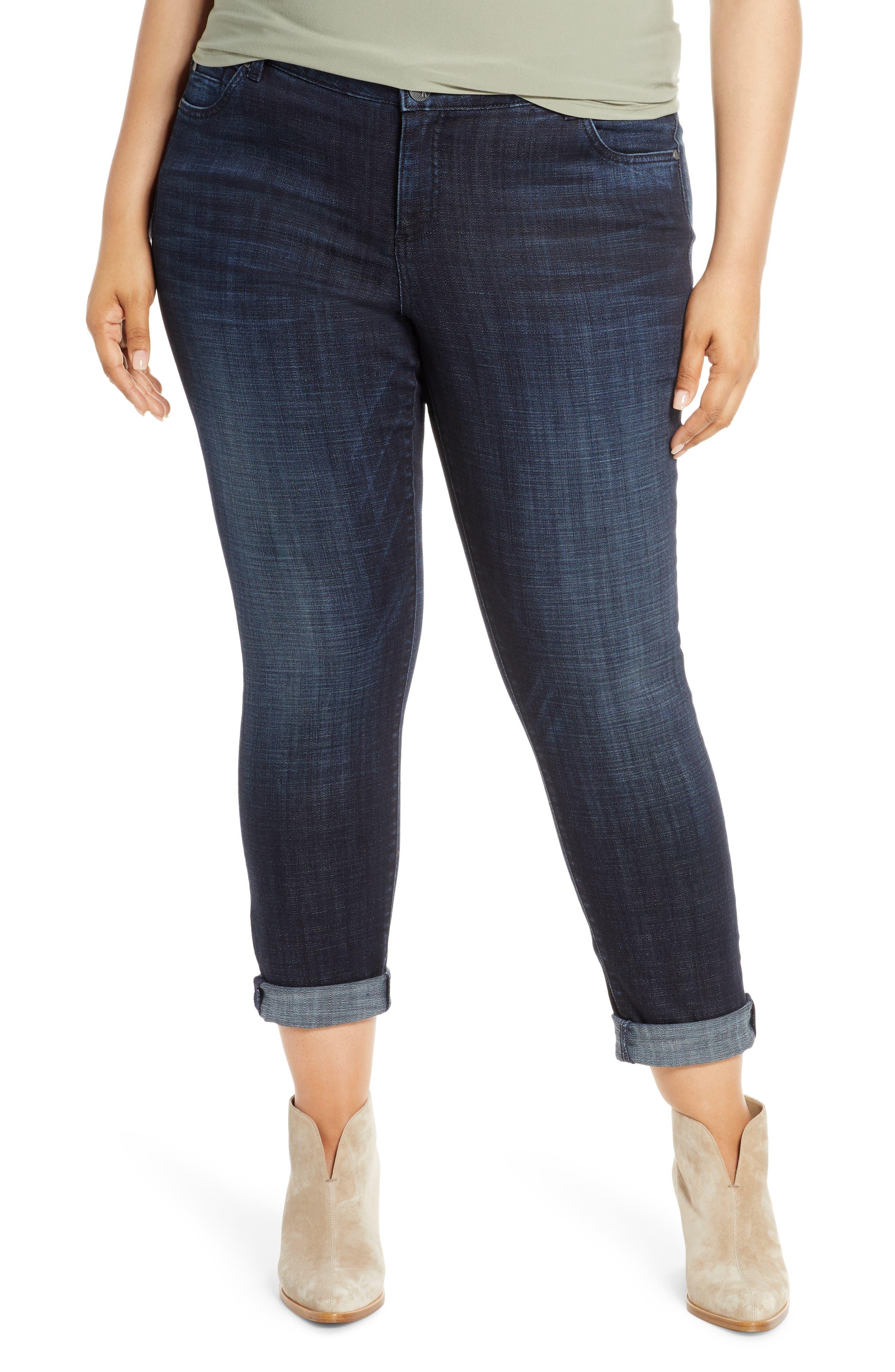 KUT from the Kloth Catherine Boyfriend Jeans (Depth) (Plus Size)