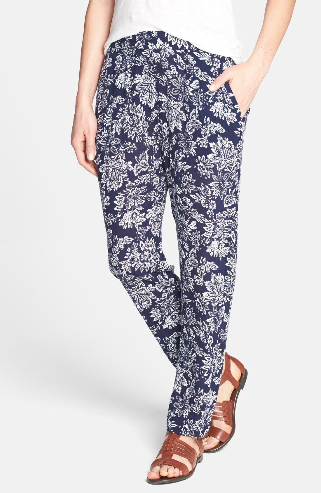 Floral Print Pants, Main, color, 435