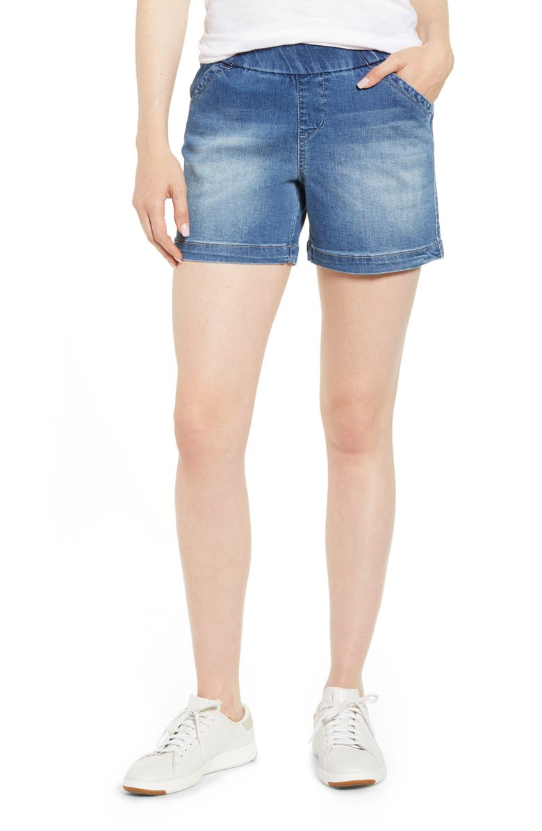 JAG JEANS Gracie Denim Shorts, Main, color, HORIZON BLUE