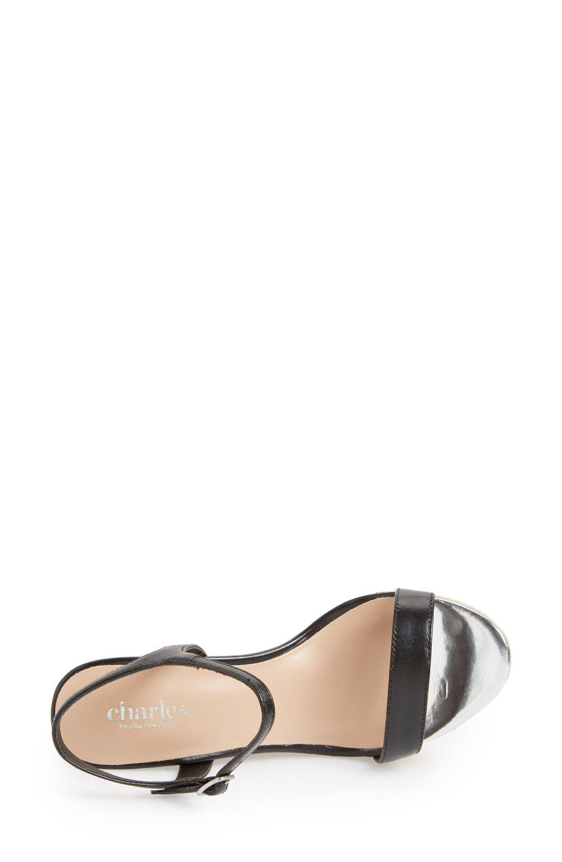 ,                             'Alabama' Espadrille Wedge Sandal,                             Alternate thumbnail 4, color,                             001
