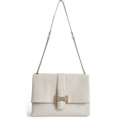 Reiss Maya Leather Shoulder Bag - Ivory