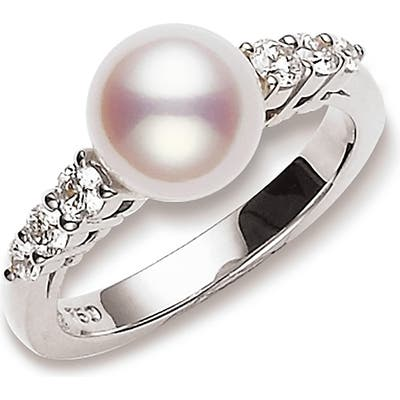 Mikimoto Diamond & Cultured Pearl Ring