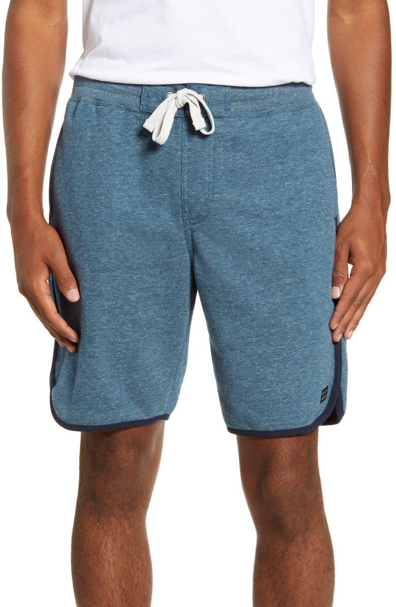 BILLABONG All Day Fleece Shorts, Main, color, NAVY