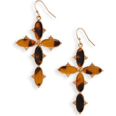 Bracha Mercy Cross Drop Earrings