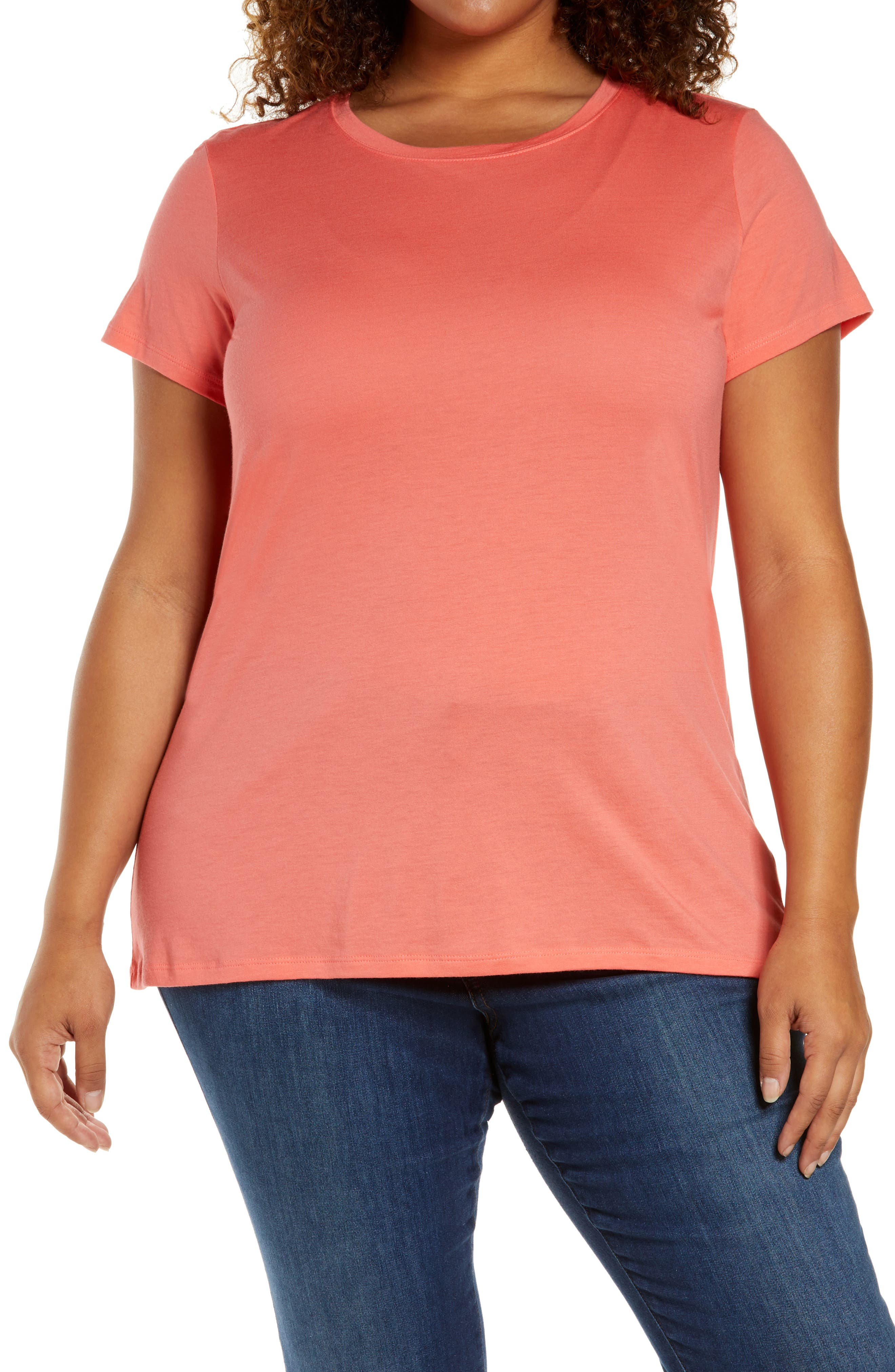Plus Size Women's Halogen Jersey Crewneck Shirt
