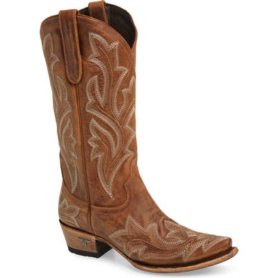 Lane Boots Saratoga Western Boot, Brown