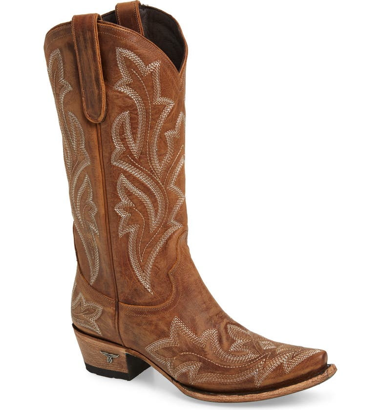 LANE BOOTS Saratoga Western Boot, Main, color, TAN LEATHER