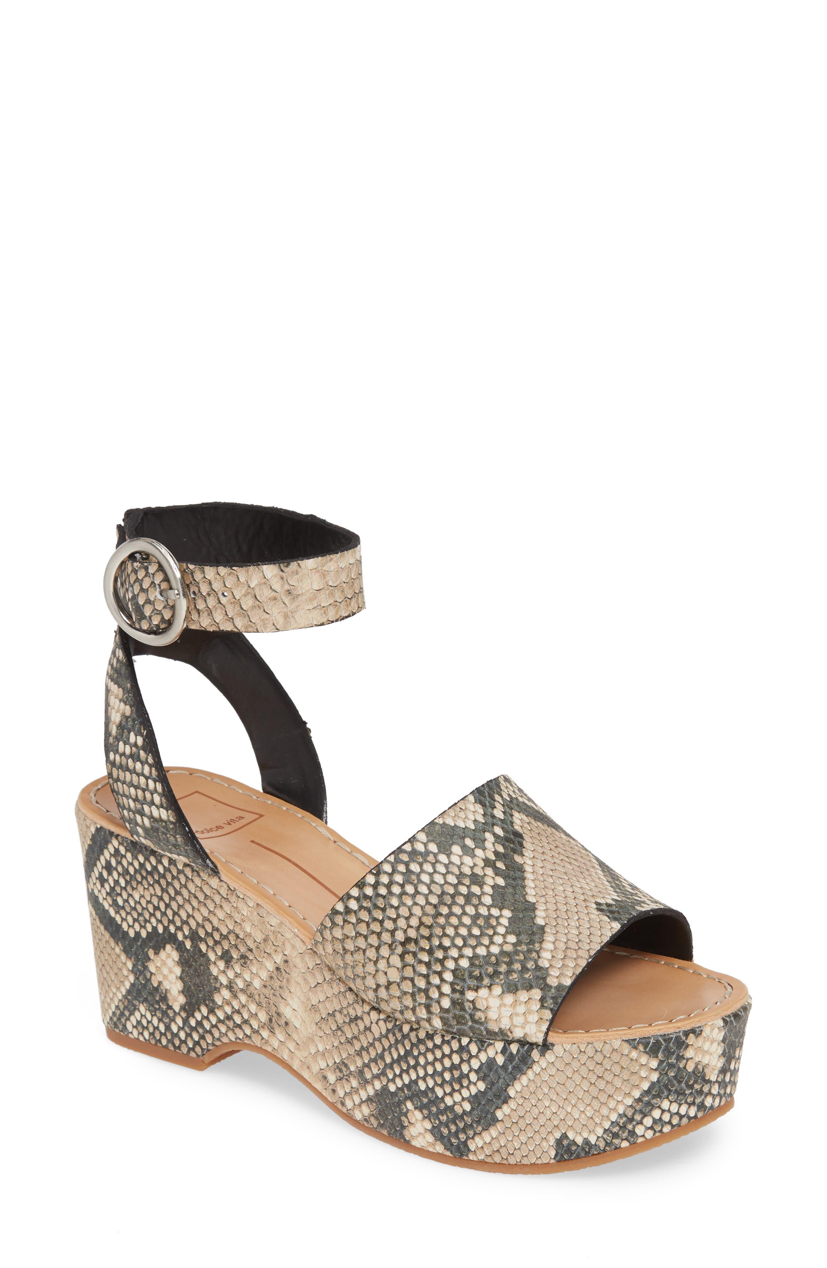 Dolce Vita Lesly Espadrille Platform Sandal, Brown