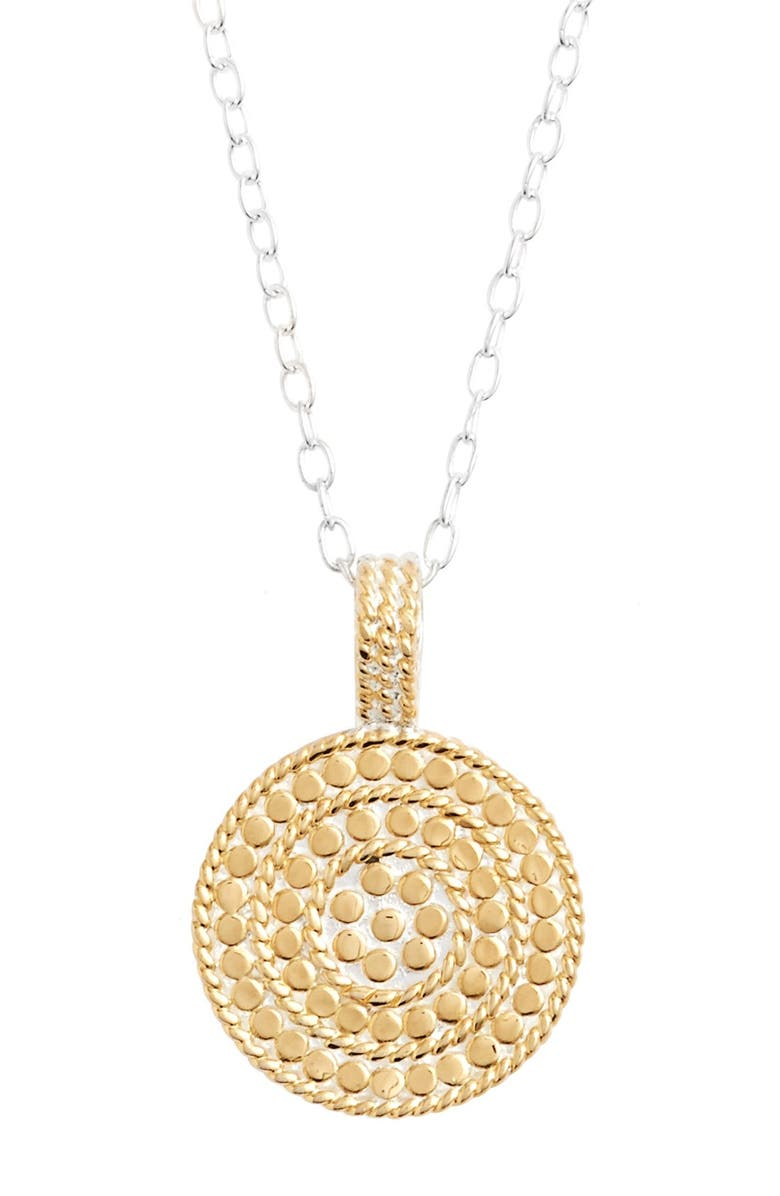 ANNA BECK Jewelry That Makes a Difference Circle of Life Pendant Necklace, Main, color, 710