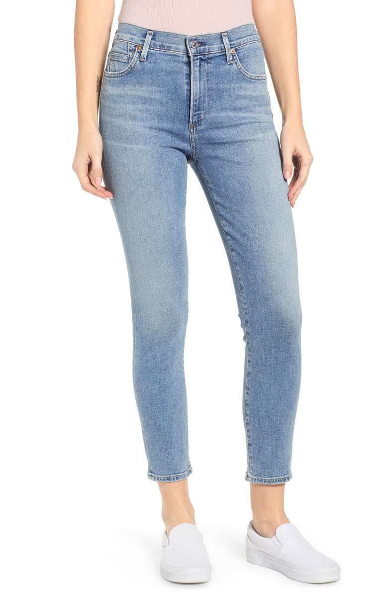 CITIZENS OF HUMANITY Rocket High Waist Crop Skinny Jeans, Main, color, 474