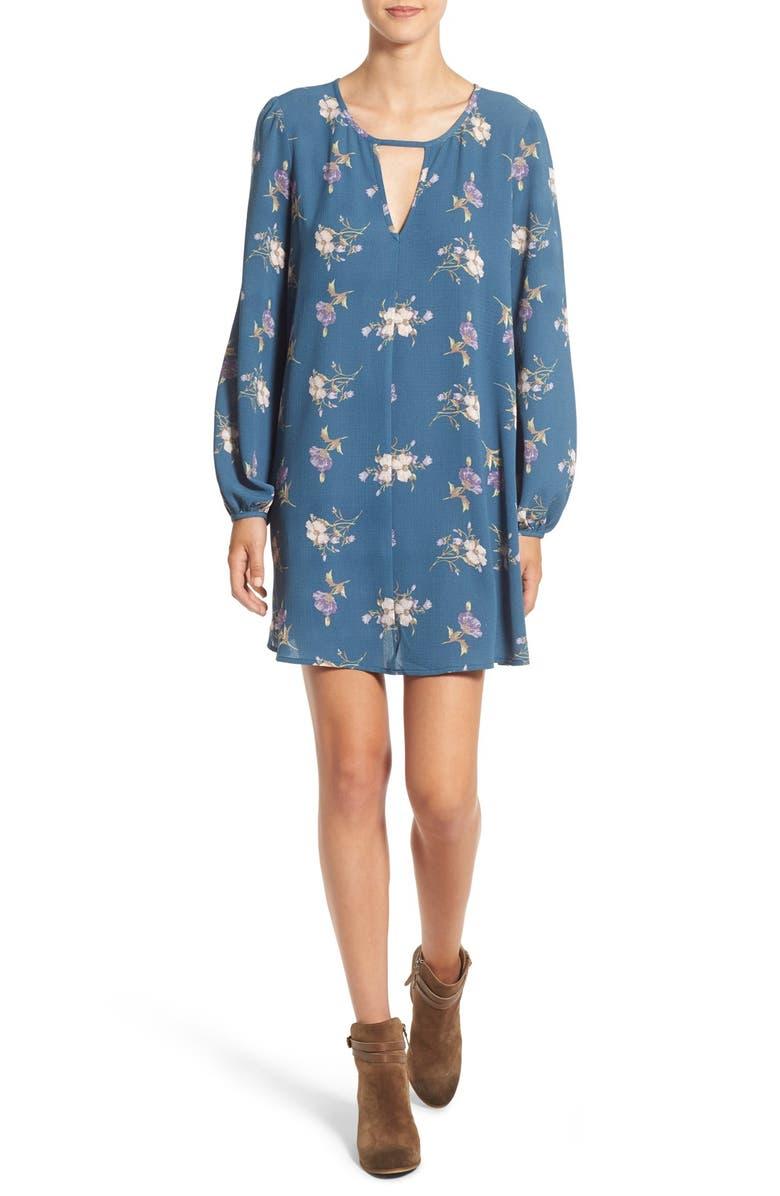 MIMI CHICA Long Sleeve Shift Dress, Main, color, 484
