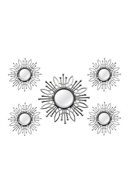 Image of Stratton Home Silver Burst Wall Mirror 5-Piece Set