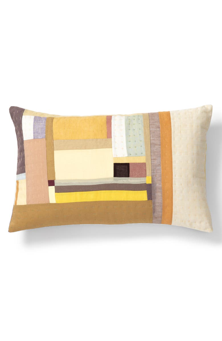 THOMPSON STREET STUDIO Rectangular Line Accent Pillow, Main, color, YELLOW