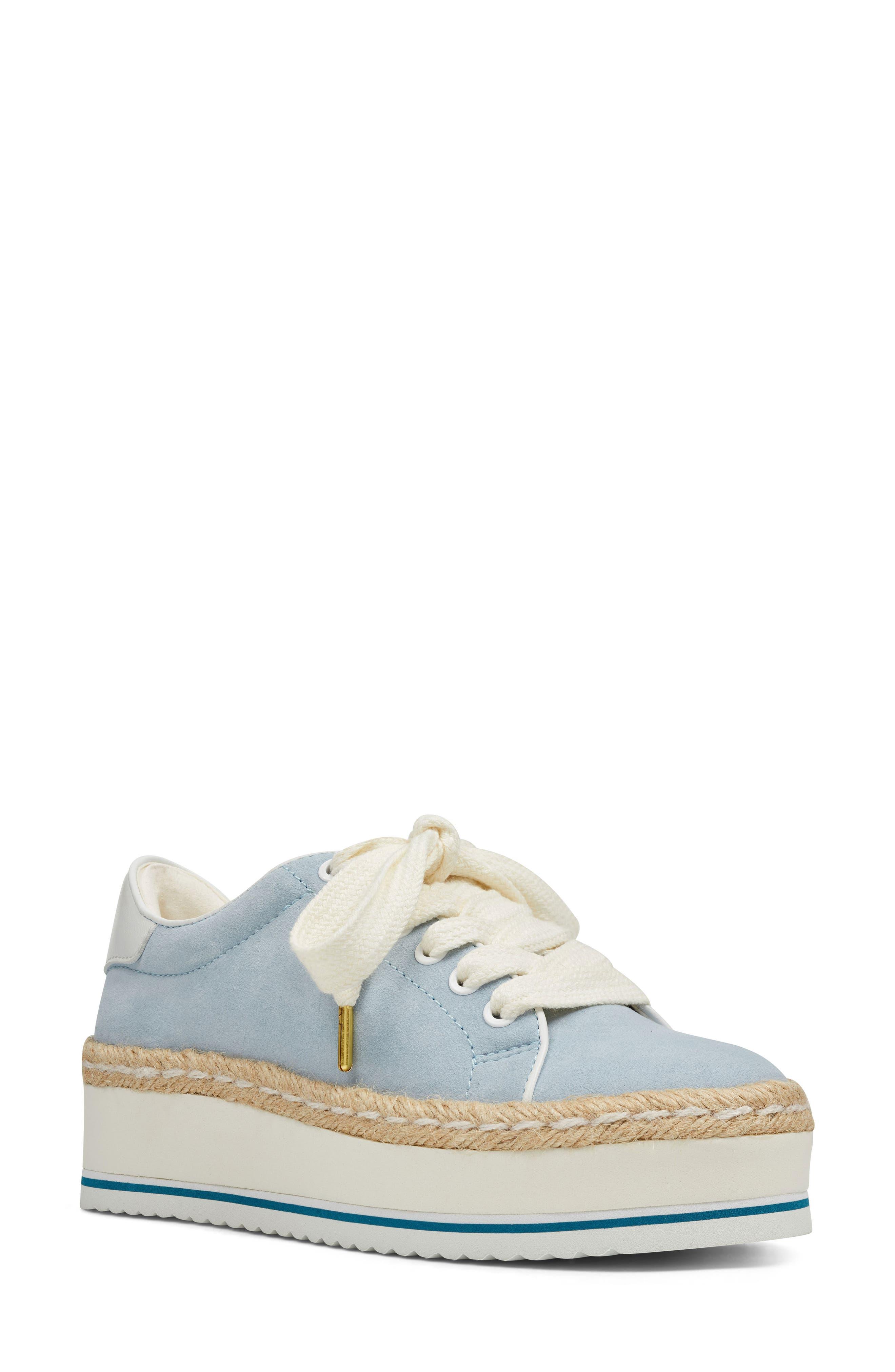 Nine West Evie Espadrille Platform Sneaker, Blue