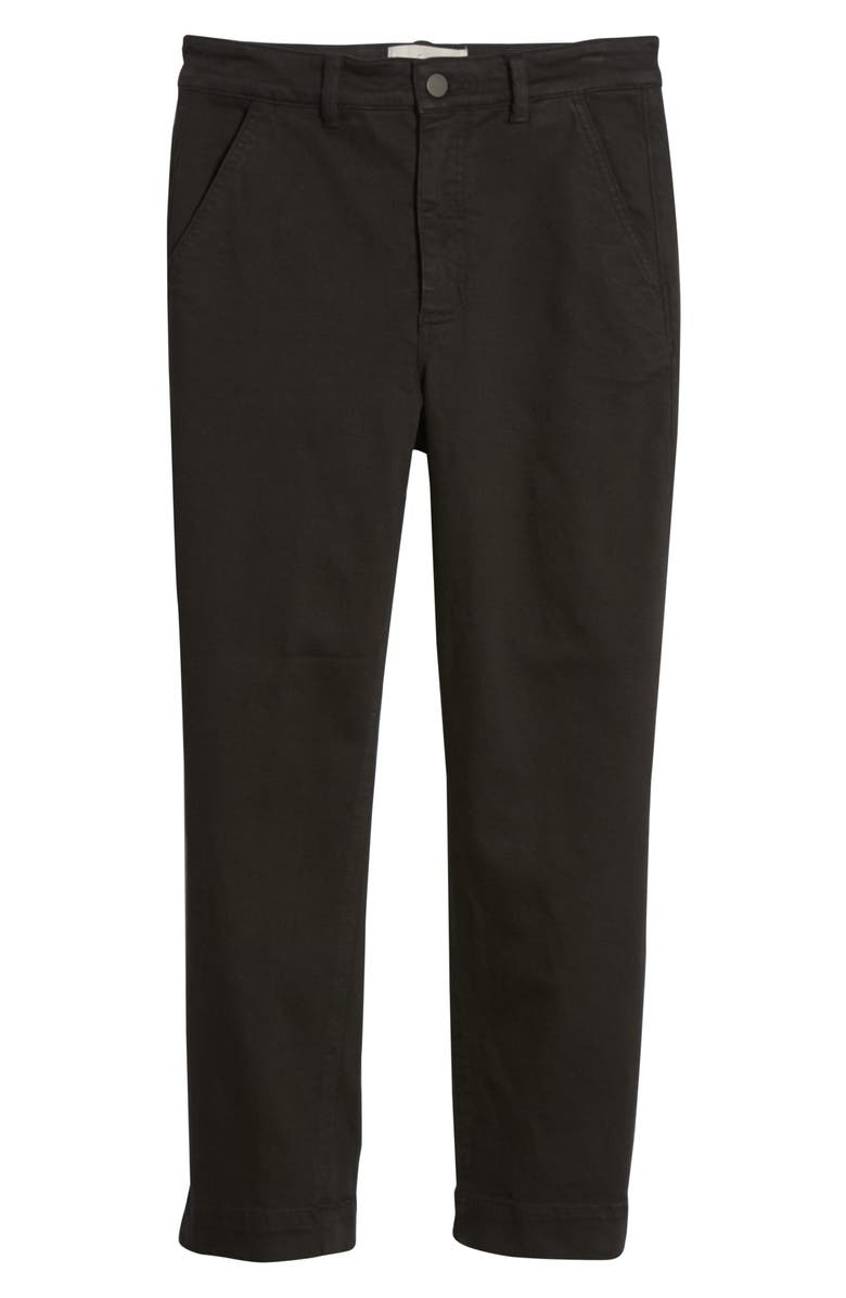 EVERLANE The Slim Leg Crop Pants, Main, color, WASHED BLACK