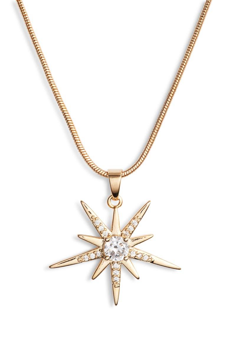 Sterling Forever Burst Pendant Necklace