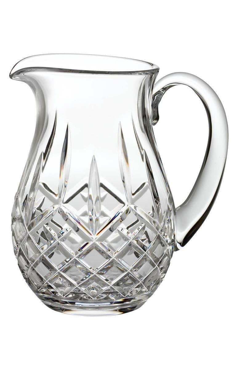 WATERFORD Lismore Lead Crystal Pitcher, Main, color, CLEAR