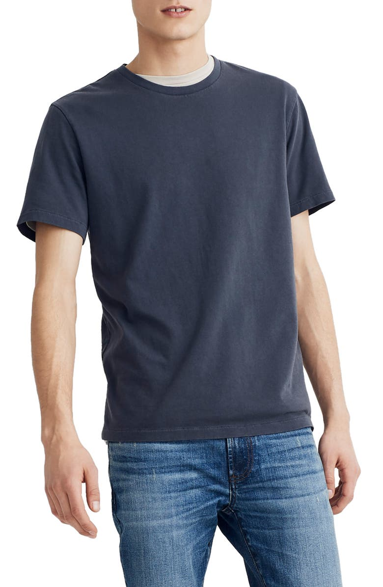 MADEWELL Allday Slim Fit Garment Dyed T-Shirt, Main, color, 001