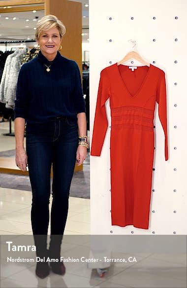 Deep-V Long Sleeve Body-Con Dress, sales video thumbnail
