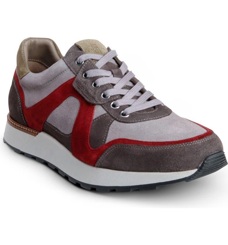 ALLEN EDMONDS A-Trainer Sneaker, Main, color, GRAY/ BURGUNDY