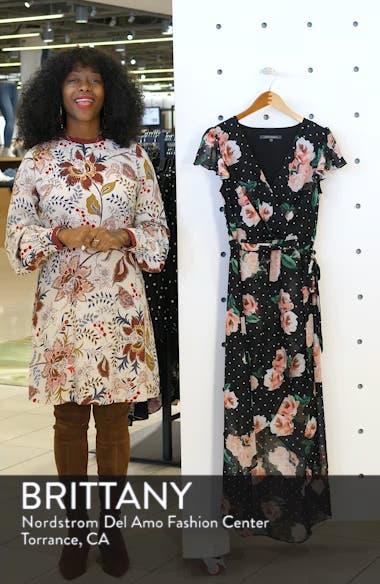 High/Low Chiffon Faux Wrap Dress, sales video thumbnail
