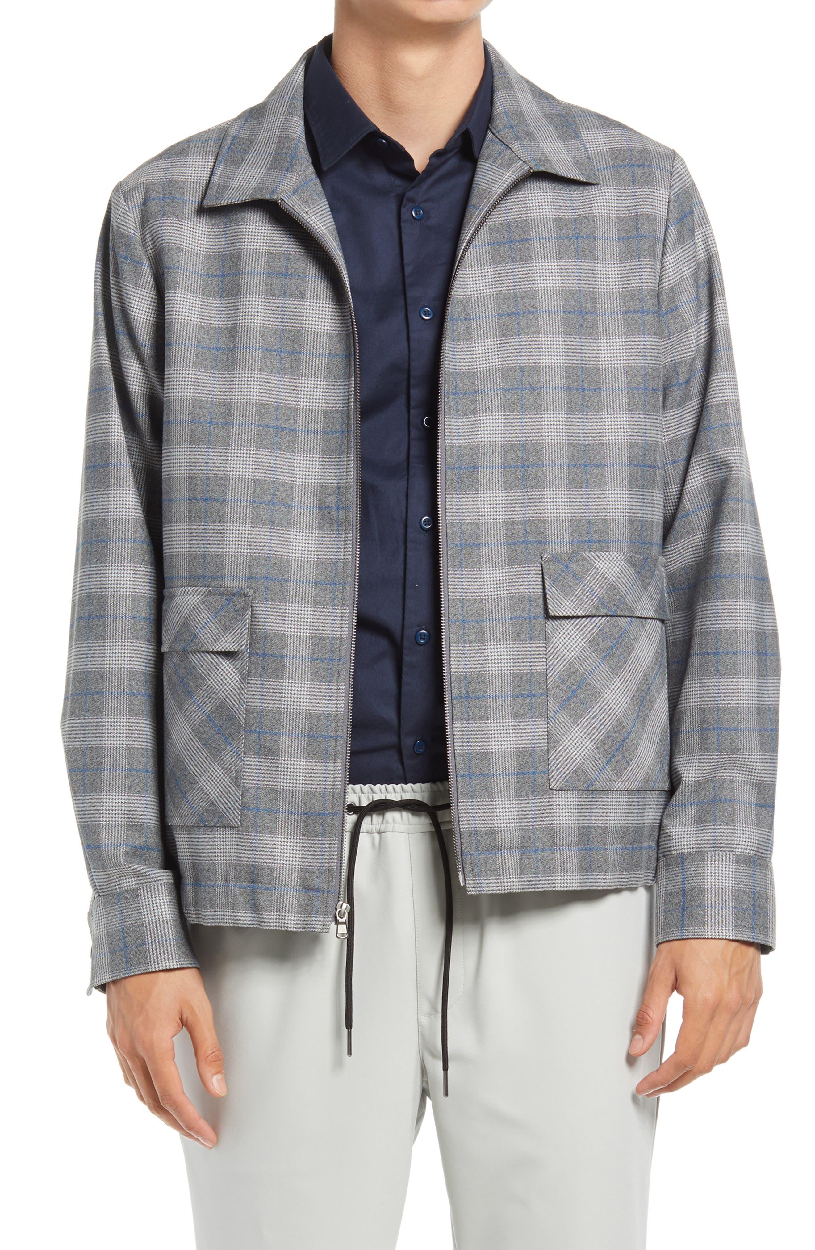 50s Men's Jackets | Greaser Jackets, Leather, Bomber, Gabardine Mens Open Edit Collar Bomber Jacket Size XX-Large - Blue $59.40 AT vintagedancer.com